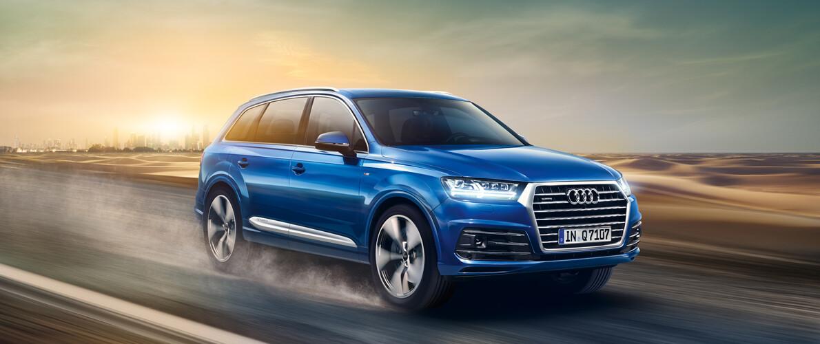 сравнение комплектаций и цен нового Audi Q7 2019 в алматы