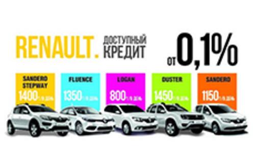 Новое кредитное предложение для RENAULT