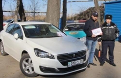 Необычную акцию провели дилерские центры национального производители совместно с ДВД г.Алматы для водителей авто.