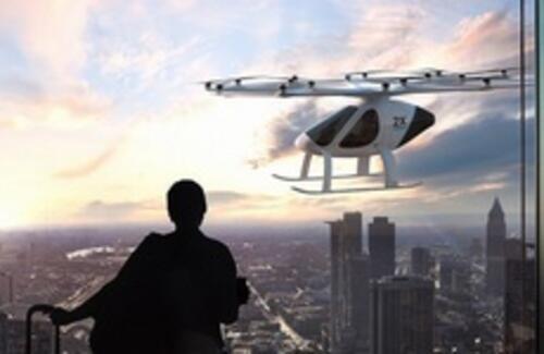 Первое летающее такси протестировали в Дубае
