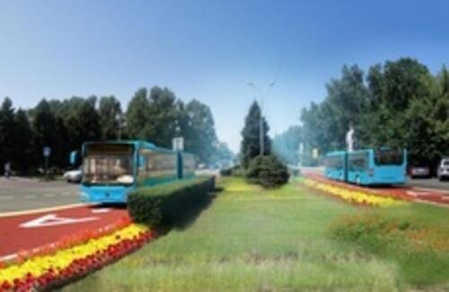 В Алматы запустили первую линию БРТ
