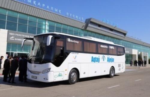 Электробусы впервые запустили на маршруты в Казахстане