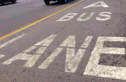 В столице ограничили скорость движения транспорта по выделенным полосам