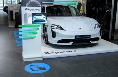 В Казахстане стартовали продажи электрического спорткара от Porsche